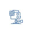 go pro video camera line icon concept go pro vector image vector image