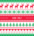 God Jul - Merry Christmas in Swedish Danish vector image