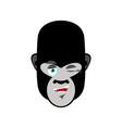 gorilla winks emoji monkey happy emotion isolated vector image vector image