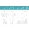 Great city map creator House constructor vector image vector image