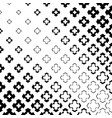 Halftone cross seamless pattern in diagonal grid vector image