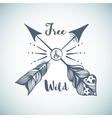 Hand drawn with arrows in Boho Style vector image