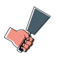 hand with spatula vector image