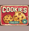 homemade cookies and cakes retro sign design vector image