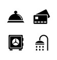 hotel services simple related icons vector image vector image