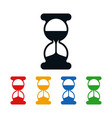 hourglass icons flat time symbols vector image