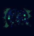hud futuristic interface data visualization world vector image