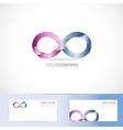 Infinite infinity 3d logo design concept vector image vector image