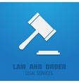 Judge gavel poster vector image vector image