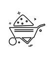 labour trolly icon design vector image