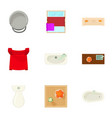 lavatory icons set cartoon style vector image vector image