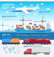 logistics and transportation infographic elements vector image vector image