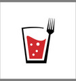 logo drink and fork vector image
