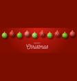 luxury merry christmas horizontal banner vector image