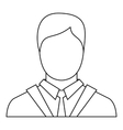 Man icon outline style vector image vector image