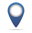 map pin blue colored marker sign vector image