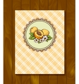 Menu of blackberry sticker with branch and leaves vector image