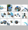 minimal brochure templates with blue color circles vector image vector image