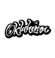 oklahoma sticker modern calligraphy hand vector image vector image