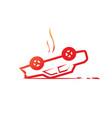 overturned car vector image