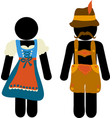 pictograph oktoberfest beer festival greeting card vector image