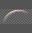 real colorful transparent curve rainbow eps vector image