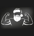 santa claus strongman sport christmas symbol vector image