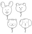 set of animal balloon vector image