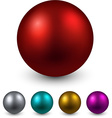 Set of color balls vector image vector image