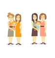 Set of happy gay LGBT women families with children vector image vector image