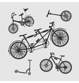 Set Symbols Bike vector image