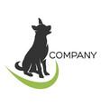 shepherd dog logo vector image vector image