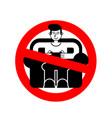 stop gamer ban guy playing video game no vector image vector image