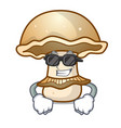 super cool portobello mushroom character cartoon vector image vector image