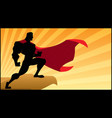 superhero rowatching silhouette vector image vector image