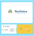 taxi logo design with tagline front and back vector image