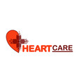 template logo for heart care vector image vector image