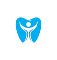 tooth people dental logo vector image