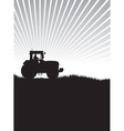 tractor in a field vector image vector image