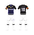 uniform of football design shirt of soccer vector image