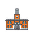 university building line icon concept university vector image vector image