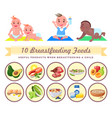 useful products when breastfeeding child vector image