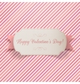 Valentines Day greeting paper Banner Template vector image
