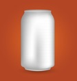 White Blank Drink Can vector image vector image