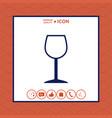 wineglass symbol icon vector image vector image