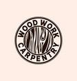 woodwork logo design logo template