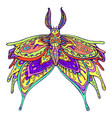 butterfly fantasy rainbow color page vector image