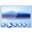 multimedia player vector image