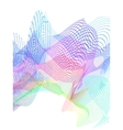 abstract stylized lines vector image
