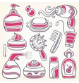 accessories for personal hygiene vector image vector image